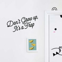 decovry.com - Made of Sundays | Muursticker | Don't Grow up