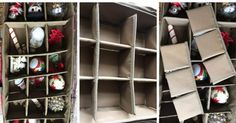 Christmas Ornament Storage, Christmas Decorations, Holiday Decorating, Ornament Drawing, Christmas Planning, Decorative Storage, Organization, Organizing, Simple Christmas