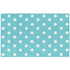 Lotsa Polka Dots Rug (Aqua) Another rug option if you want to bring in additional aqua accents.