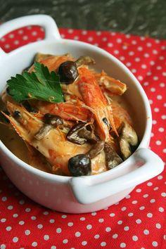 Crevettes au safran et à l'orange