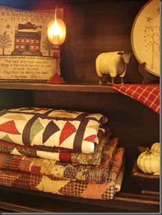 Love love quilts, sheep, sampler, gourds. All my favorites!