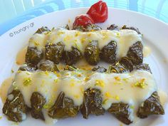 Stuffed with Minced Meat, Avgolemono Avgolemono Recipe, Greek Appetizers, Cooking Recipes, Healthy Recipes, Healthy Food, Good Food, Yummy Food, Greek Cooking, Vine Leaves