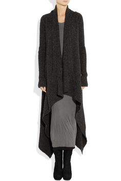 Rick Owens|Draped knitted cardigan