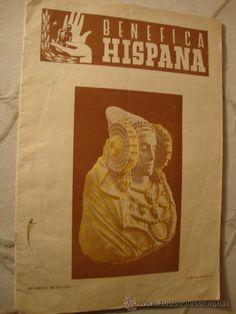 ANTIGUA Y RARA EVISTA PORTADA DAMA DE  ELCHE BENEFICA HISPANIA
