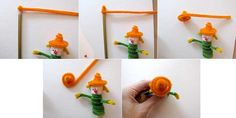 make scarecrow hat Fall Kids Crafts: Finger Puppets