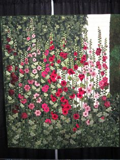 Stockrosen (Hollyhock) Quilt by Philosopher Queen, via Flickr