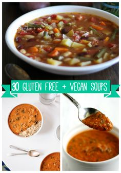 A collection of vegan and gluten free soup recipes - flavorful, comforting, and hearty!