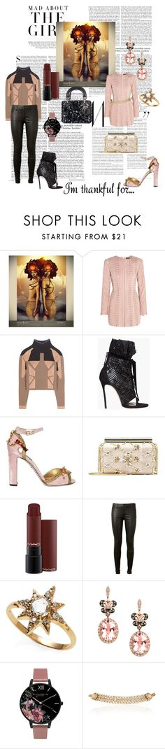 """Thankful"" by dolcechez ❤ liked on Polyvore featuring Kershaw, Balmain, adidas Originals, Dsquared2, Dolce&Gabbana, Oscar de la Renta, AG Adriano Goldschmied, Anzie, Effy Jewelry and Olivia Burton"