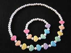 Doesn't this necklace bracelet set looks just like candies?