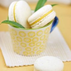 Lemon Verbena Macarons made using the Italian meringue (sucre cuit) method. Step by step photos.