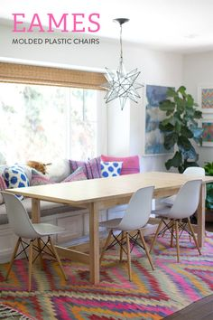 Eames molded plastic chairs // At Home in Love