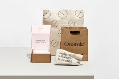 Ecommerce packaging for Onomie by Homework