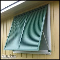 Exterior hurricane shutters for windows and openings. Aluminum bahama shutters online that are made to order to suit your needs. Cottage Shutters, Interior Window Shutters, House Shutters, Interior Windows, Modern Shutters, Pallet Shutters, Windows Decor, Custom Shutters, High Road