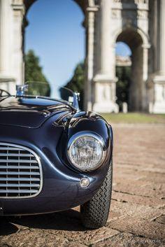 Waking up Milan with Gianni Agnelli's #Ferrari 166 MM. #Beauty #Romance #Art #Cars #CarShowSafari