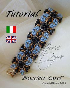*P Pattern  Bracelet Carol by MarielBijoux on Etsy, €6.50