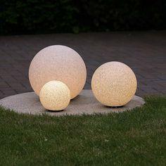 3er Set Kugelleuchten O 20 30 40cm Aussen Lampen Leuchten Garten Kugellampen Lumieres Jardin Jardins Lamp