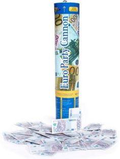 CANON CONFETTIS IMPRIMES BILLETS EUROS 30 CM