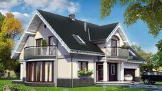 projekt Heliodor As Classic House Design, Small House Design, Modern House Design, House Outside Design, Modern Bungalow House, Grand Homes, Home Fashion, Exterior Design, My House