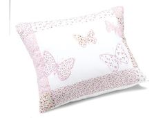 Laura Ashley Girls Bella Butterfly Pink Cotton Decorative Cushion
