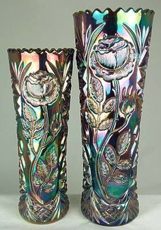Captivating Why Rose Gardening Is So Addictive Ideas. Stupefying Why Rose Gardening Is So Addictive Ideas. Cut Glass, Glass Art, Vintage Carnival, Vintage Circus, Rose Garden Design, Antique Glassware, Fenton Glass, Glass Collection, Colored Glass