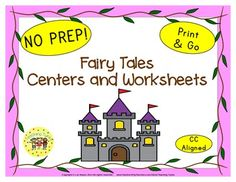 My Fairy Tales Unit includes: Center ideas, Writing Activities, Story Cards, AND 16 Fairy Tales printables:Word Cards-Word Search-Coloring-Story Map-What Happened?-Who Am I?-All About-True or False I also added a writing activity along with two cute craftivity page toppers that will brighten your classroom and excite your students.