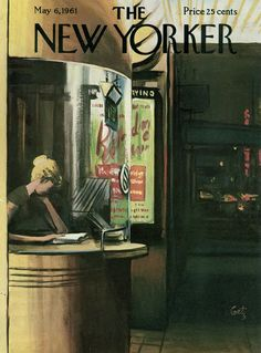 (via mycinemania): The New Yorker, May 6, 1961. Illustration: Arthur Getz (image courtesy Conde Nast).