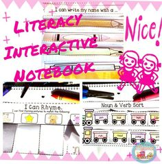 Students will enjoy this Literacy Interactive notebook for Kindergarten. Students will have fun practicing their phonics, grammar, and writing skills. You will love the simplicity of this notebook as there is not a lot of complex cutting or loose pieces that may get lost.