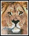 Lion Card Counted Cross Stitch Pattern http://www.artecyshop.com/index.php?main_page=product_info&cPath=28&products_id=1111