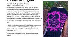 PikkuPöllöTinyOwl.pdf Drops Karisma, Knit Crochet, Crochet Hats, Pdf, Knitting, Knitting Hats, Tricot, Cast On Knitting, Crochet
