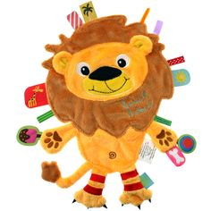 Label Label Baby Animal Comfort Soother Taggy Plush Blanket - LION in Baby, Toys & Activities, Other Toys & Activities Tag Blanket, Baby Security Blanket, Baby Girl Toys, Baby Comforter, Baby Store, Soft Blankets, Animal Pillows, Stuffed Toys Patterns, Toddler Toys