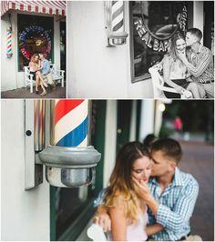 Barber shop engagement session | Downtown Savannah Engagement | Izzy Hudgins Photography