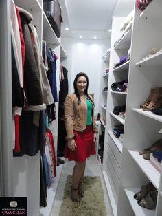 Construindo Minha Casa Clean: Tour pelo meu Closet!!! Veja Móveis Planejados!