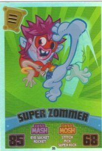 Moshi Monsters Series 3 Code Breakers No. 205 SUPER ZOMMER - Rainbow Foil Individual Trading Card #moshimonsters #superzommer