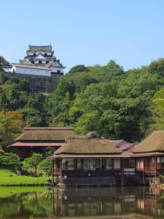 Hikone Castle (彦根城) and adjacent garden, Shiga, Japan