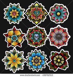 Flower Wrist Tattoos, Hand Tattoos, Sleeve Tattoos, Traditional Mandala Tattoo, Traditional Tattoo Design, American Classic Tattoo, Tattoo Perna, Robin Bird Tattoos, Globe Tattoos