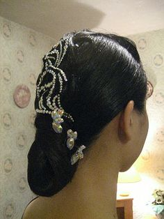 ballroom hair with stones