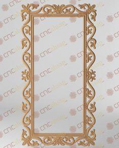 Cnc Kesim  Mdf Oyma Ayna Çerçevesi - Cnc Carved Cutting Mirror Frame www.cncahsap.net New Mehndi Designs, Cnc Wood, Cnc Projects, Corner Designs, Scroll Saw, Dremel, Craft Work, Wood Carving, Wood Art