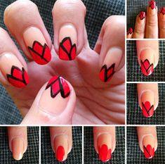 10 Tutoriales Fáciles de Diseño de Uñas Rojas para Principiantes - Manicure