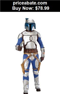 Men-Costumes: Adult Jango Fett Costume Star Wars Deluxe Halloween Mens Fancy Dress Jumpsuit  - BUY IT NOW ONLY $78.99