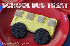 bus treat... first day of school treat... a bit sugary but so cute!