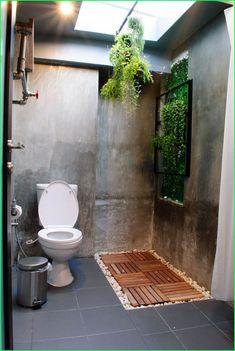 Bad Inspiration, Bathroom Inspiration, Interior Inspiration, Natural Bathroom, Small Bathroom, Bathroom Ideas, Outdoor Bathrooms, Outdoor Baths, Vintage Industrial Furniture