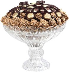 Crystal Pedestal with Top Quality Chocolate Wedding Chocolate Gift Tray Chocolate Gift Boxes, Kosher Gift Baskets, Bulk Nuts, Cheap Crystals, Bulk Candy, Engagement Gifts, Wedding Gifts, Pedestal