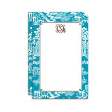 Turquoise Chinoiserie Notepad