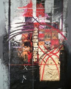 Abstract 9415  50x70 cm Luigi Torre painter 2015