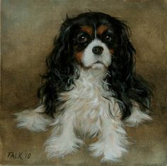 Tricolor Cavalier King Charles in Art.