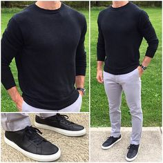 Sneakers and sweaters make an awesome late summer and early fall combination too❗️  Do you like this black and grey combo❓ ⚫️ Sneakers: @greatsbrand Royale Nero Sweater: @dstld Watch: @hamiltonwatch _______________________________________________________ • • • • • #casual #casualstyle #currentlywearing #dailylook #fashionblog #black #grey #guys #instyle #lookoftheday #menfashion #menstyle #menswear #menwithstyle #mylook #ootdshare #outfitoftheday #outfit #outfits #gray #black...