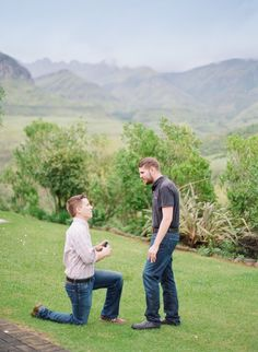 Down on one knee to propose | South African Countryside Surprise Gay Proposal | Equally Wed - LGBTQ Weddings