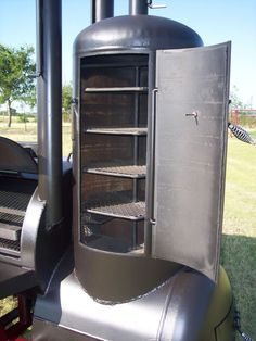 NEW BBQ pit smoker cooker and Charcoal grill trailer Bbq Smoker Trailer, Bbq Pit Smoker, Bbq Grill, Gas Smoker, Smoker Cooker, Custom Bbq Smokers, Infrared Grills, Homemade Smoker, Smoke Grill