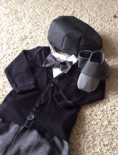 Marley- Baby Boy Clothes – Newborn  Outfit - Infant Bowtie Cardigan- Photo Prop- Shower Gift- Preppy- Ring Bearer-Christol and Company