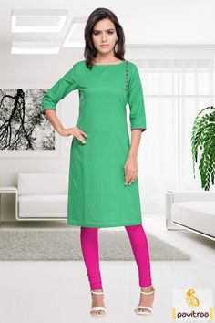 Very simple daily wear formal #green cotton casual kurti with low rate is very comfortable to wear. It is graceful with button design on shoulder part. #kurtis, #womentunic, #stylishkurti, #casual,  #tops, #kurtitunic, #discountoffer Womens Day Special Sale Offer: Flat 40% Off On Ready To Ship Category More: http://www.pavitraa.in/store/ready-to-ship/ Any Query: Call Us:+91-7698234040  E-mail: info@pavitraa.in